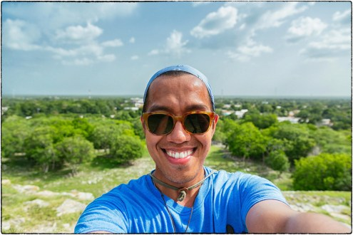 A top one of the pyramids in Izamal