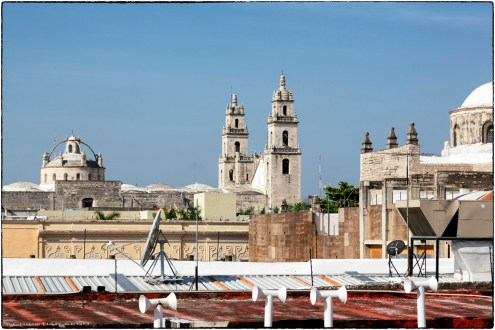 The view from our room in Mérida