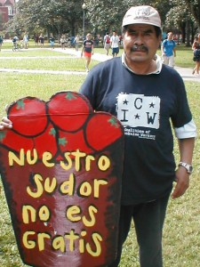 A worker with the CIW