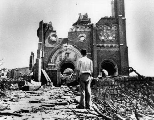Cathedral ruins in Nagasaki