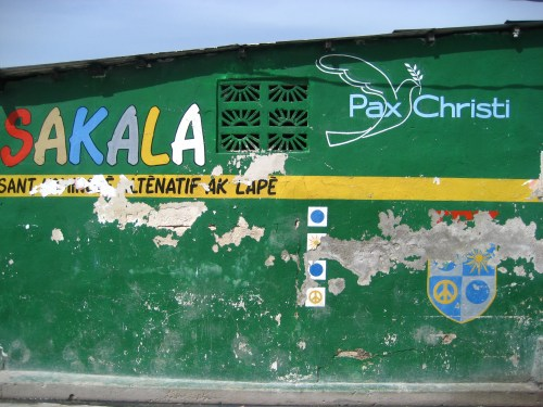 The house where Daniel Tillias grew up and which  hosted peace education sessions for Pax Christi Port-au-Prince.