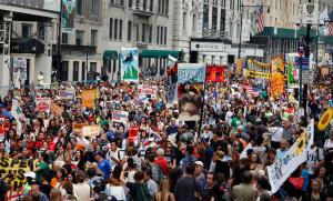 The People's Climate March in August in NYC