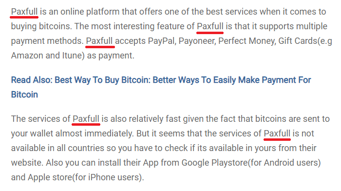 Paxfull typo