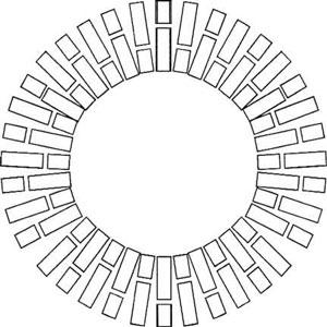 La forma circolare irradiante dei canali