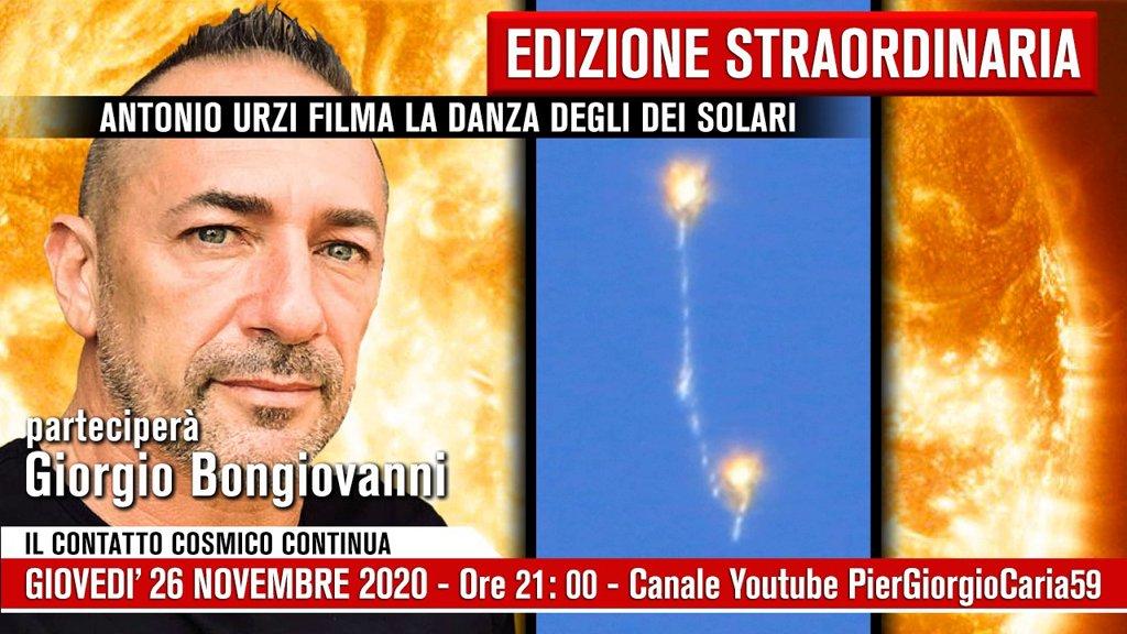 Giorgio Bongiovanni Piergiorgio Caria Antonio Urzi filma la danza degli DEI Solari