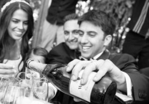 wedding toast at blue Event Center in Bethlehem, PA