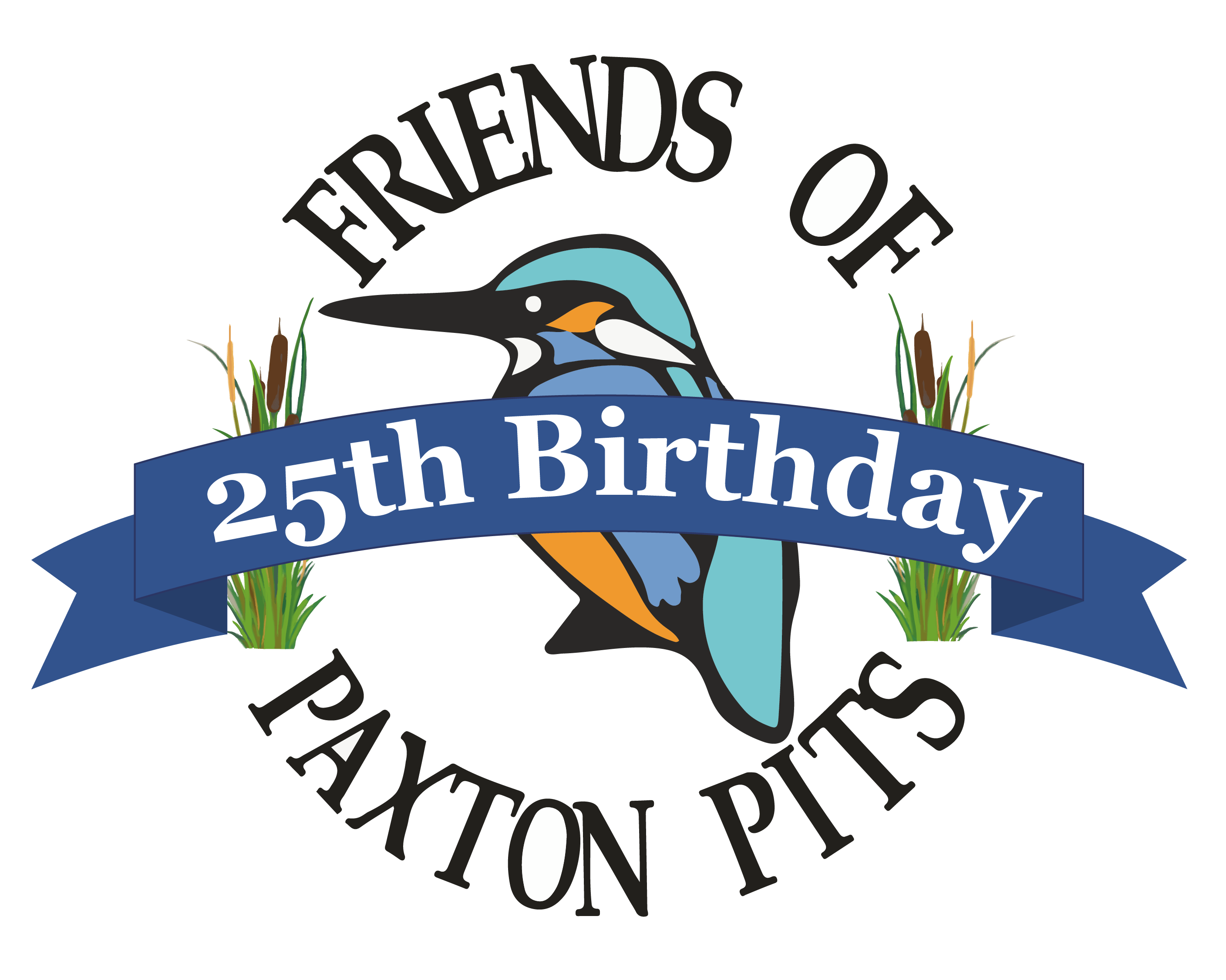The Friends of Paxton Pits 25th Birthday logo