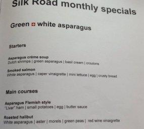 The peak of white asparagus season
