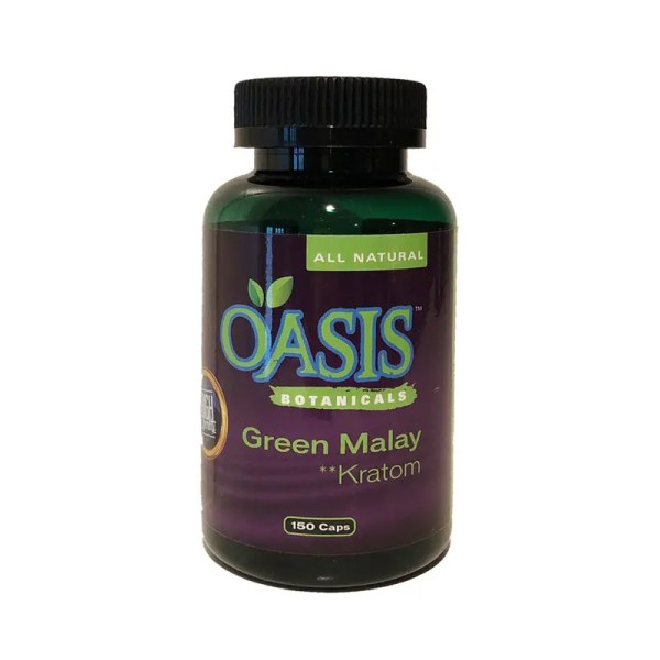 Oasis Kratom Capsules - Green Malay