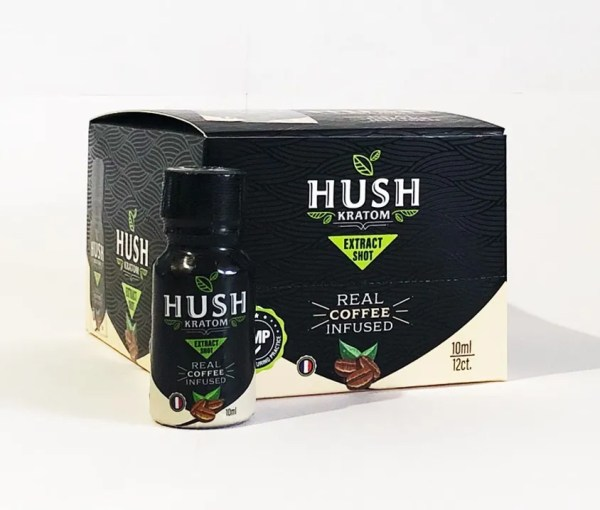 Hush Kratom Shot Coffee Infused Pack