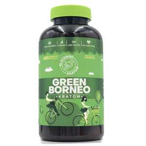 Black Bird Green borneo kratom capsules