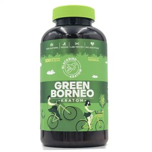 Black Bird Green borneo kratom capsules