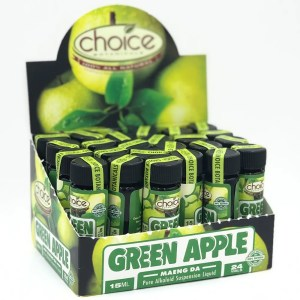 choice botanicals green apple kratom liquid shot