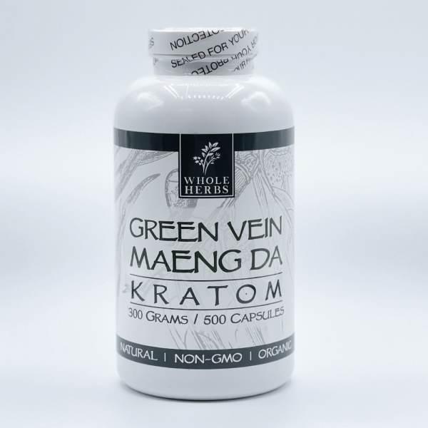 Whole Herbs Green Vein Maeng da Kratom Capsules