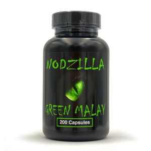 Nodzilla Green Malay Kratom capsules