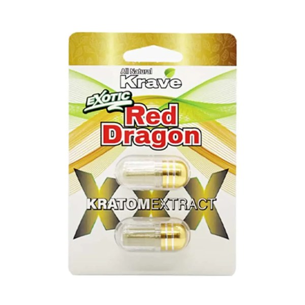 Krave Red Dragon Kratom Extract capsules