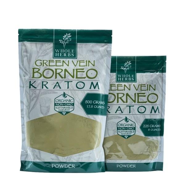 whole herbs green vein borneo kratom powder