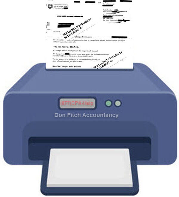 Actual IRS Penalty Abatement Letters