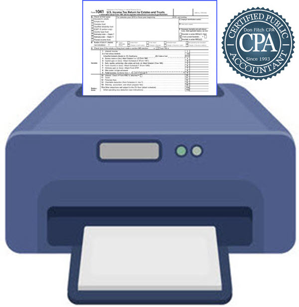 1041 Tax Return Engagement Paperwork - Click on to Download Engagement Paperwork in a pdf format