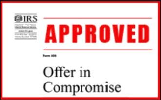 Approved Offer in Compromise 518k for 10k