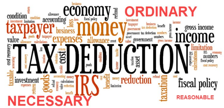 Tax Deduction must be Ordinary, Necessary, and Reasonable in Amount