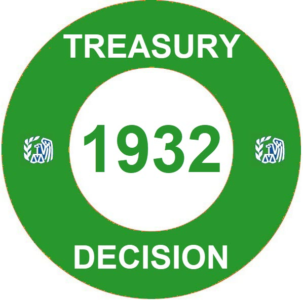 Treasury Decision 1932