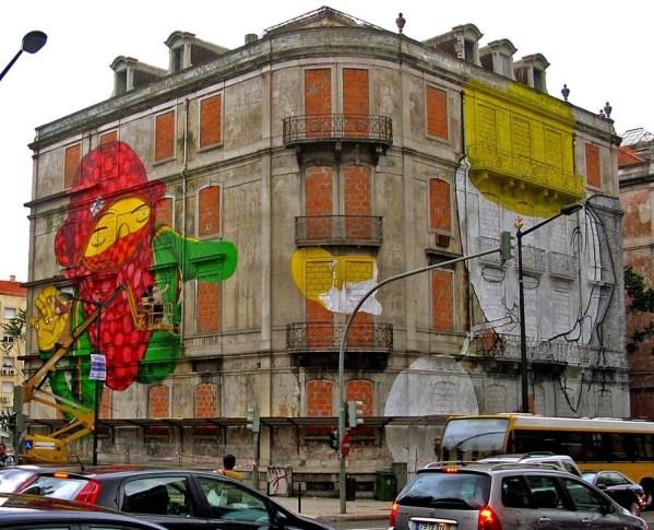Os Gemeos Blu Lisbon u2 1000 - Apă, soare, istorie: Lisabona