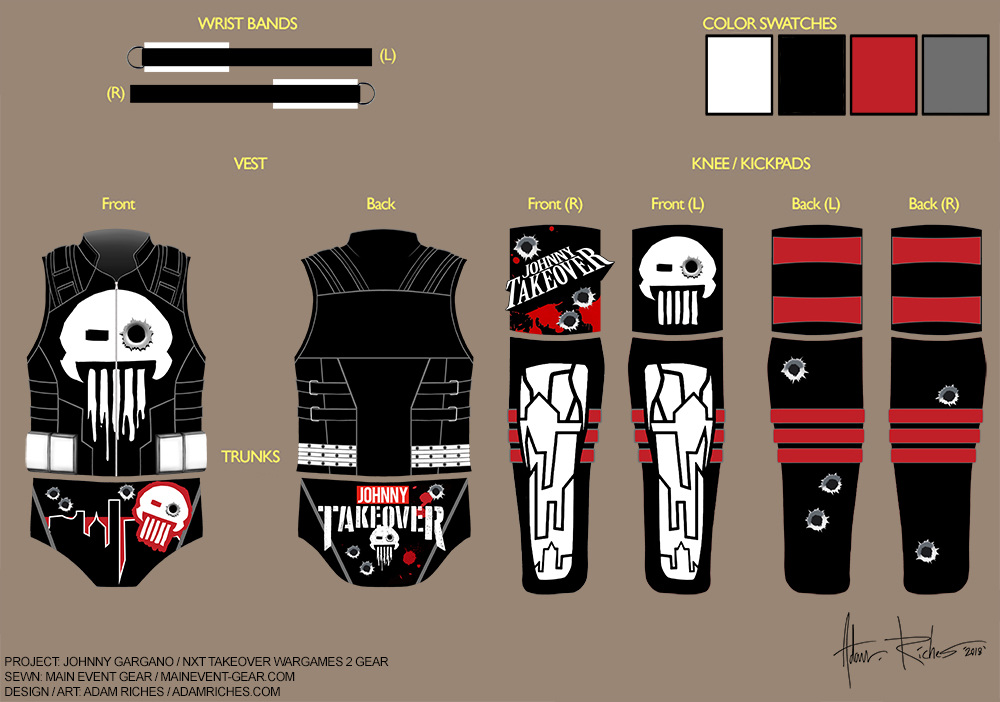 Wwe Ring Gear Costume Design Adam Riches