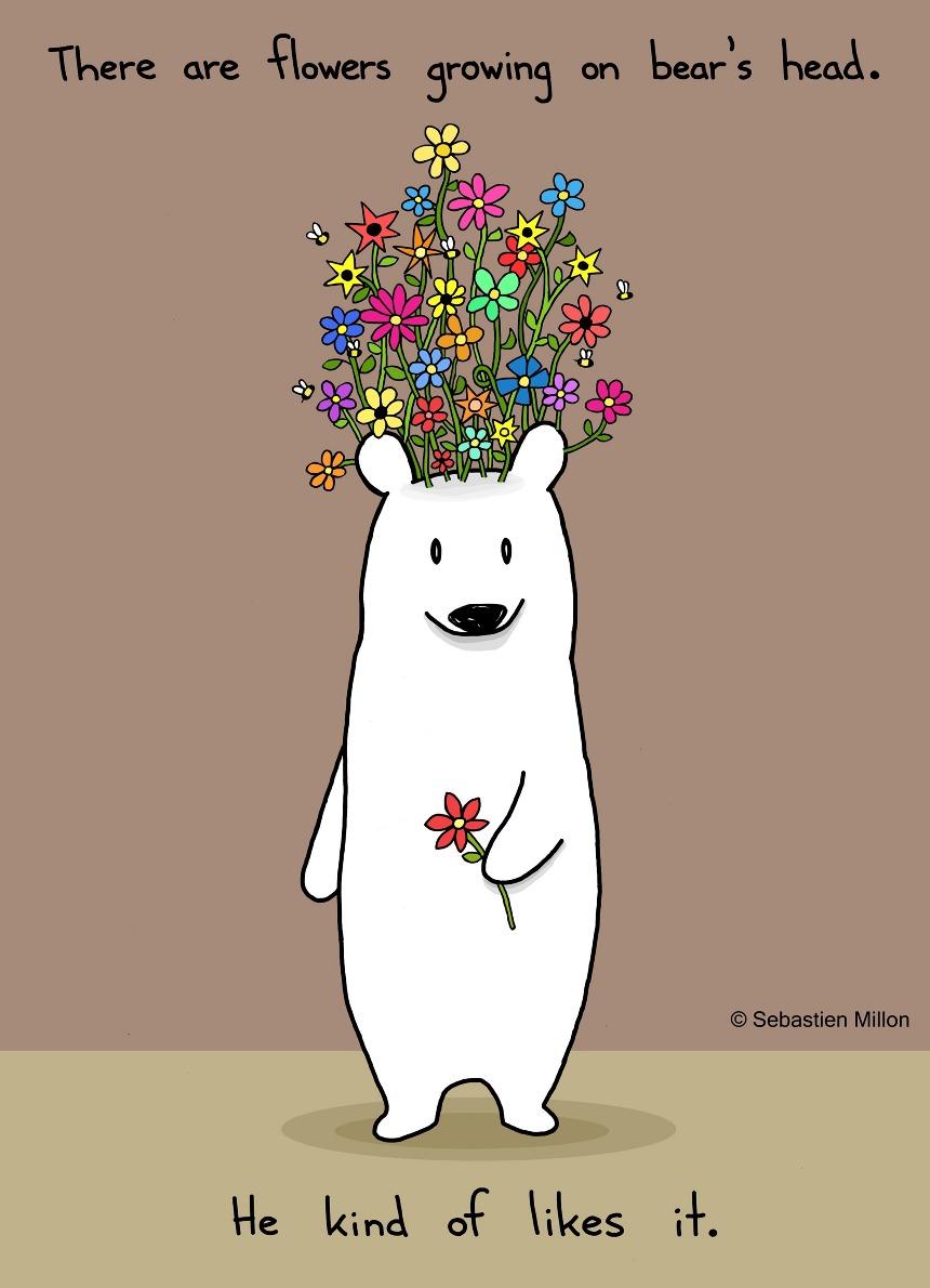 Flower Bear Sebastien Millon Art Amp Illustration