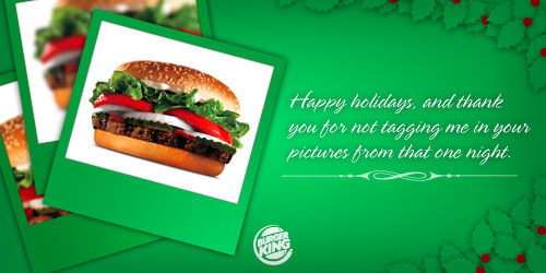 Burger King Holiday Cards Stephen Dalton Copywriter