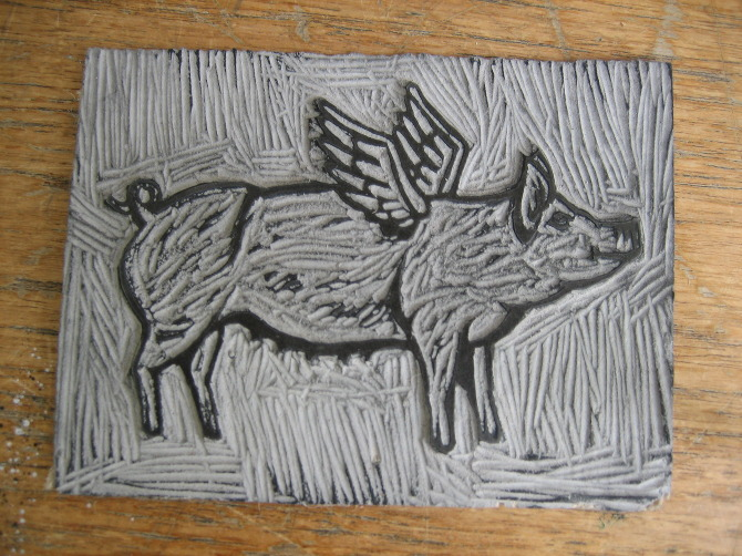 Lino Cut Outs And Collagraph Plates Naomi Jones Illustration
