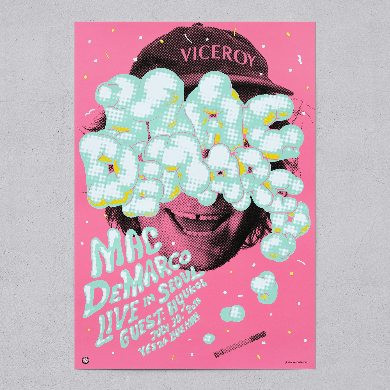 poster and ticket for concert mac