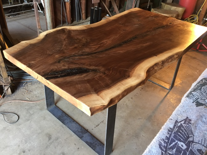 Live Edge Black Walnut Slab Dining Table Ambrose Woodworks