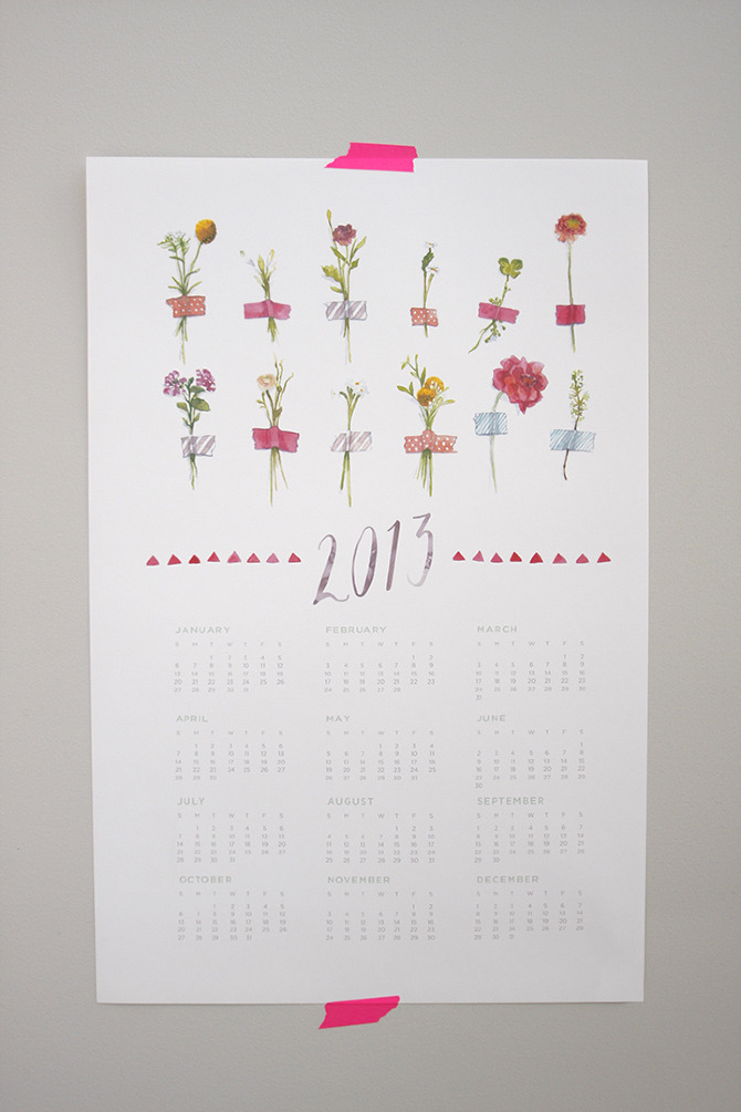 2013 Watercolor Calendar Song Amp Dance