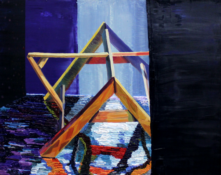 oil on wood, 2013