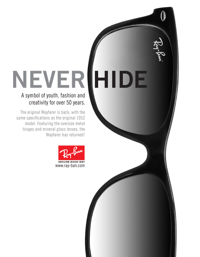 Image result for ray ban  advertising