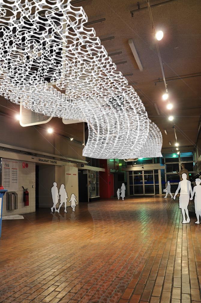 Parametric Skin Ceiling Australia Shuli Sun Maxwell