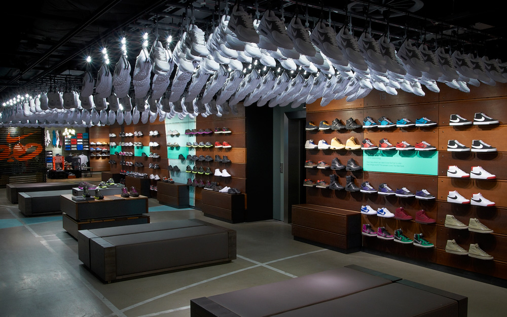 Nike Town London Colin Cornwell Design Amp Art Direction