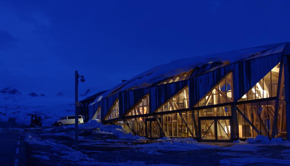 Image result for New entrance building to Sognefjellshytta mountain hotel