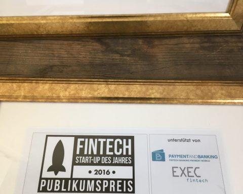 Preis zum Fintech des Jahres 2016