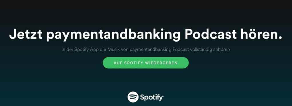 Paymentandbanking Podcast ab sofort auch auf spotify