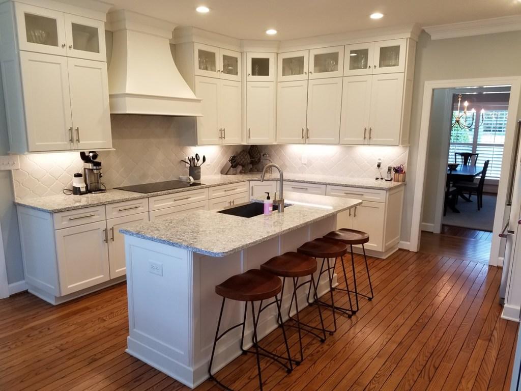 New Cabinets, Floors & Lighting