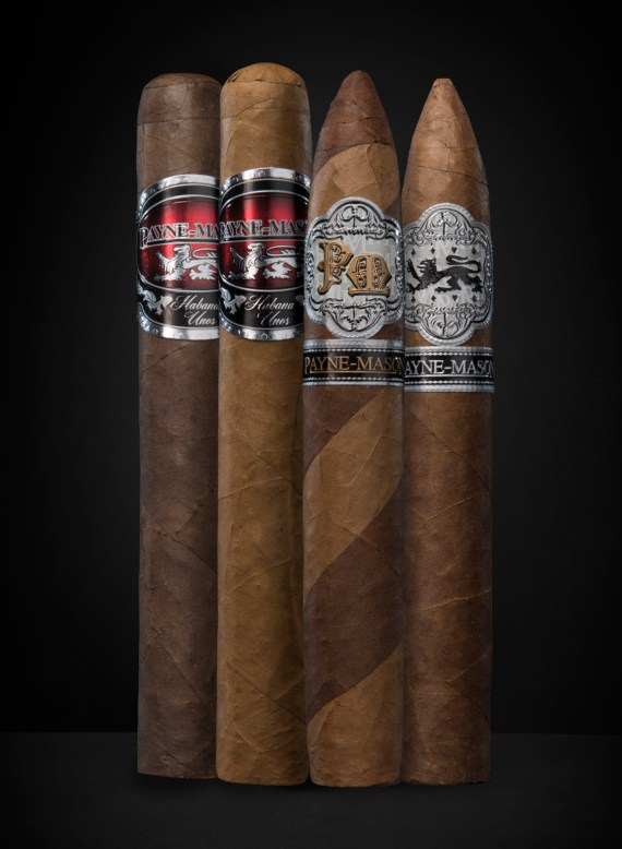 The PAYNE-MASON Connoisseur Cigar Combination includes the following cigars:  – Torpedo Presidente – Torpedo Barber - Torito Lite - Torito Maduro