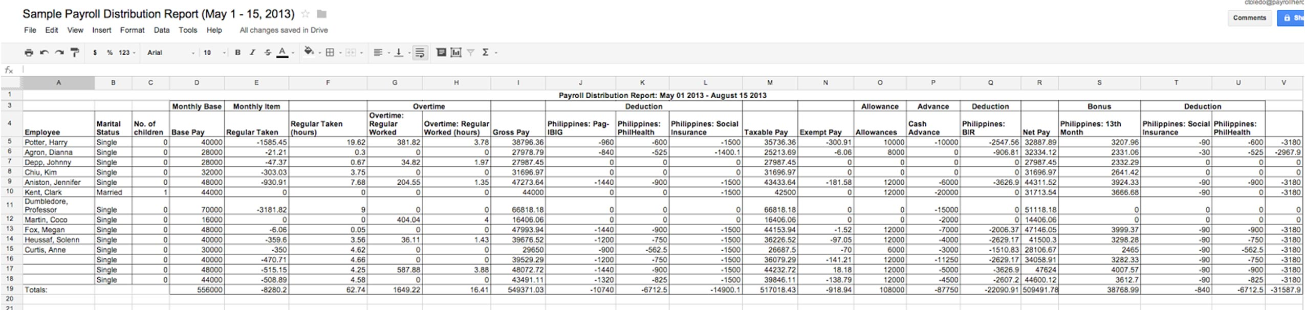 sample reports css payroll professional payrolls with a excel – Payroll Report Template