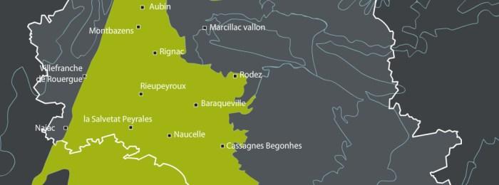 Plateau et vallée cristallins au coeur de l'Aveyron
