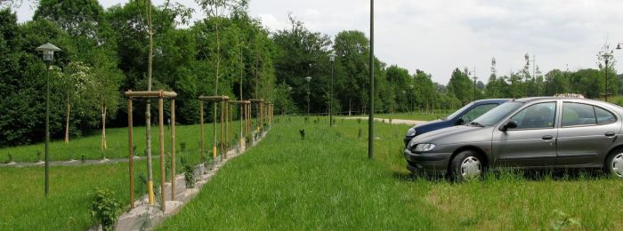 Stationnement enherbé – parking végétalisé