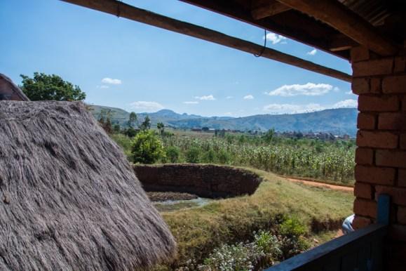 Vue de la fenêtre de Marcel, agriculteur semencier à Fianaranstoa