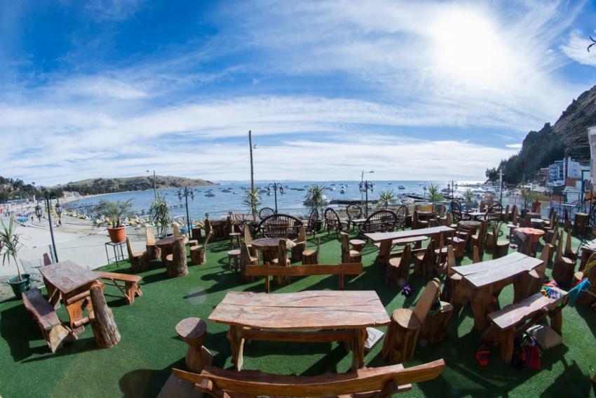 La vue de mon hôtel, lac Titicaca