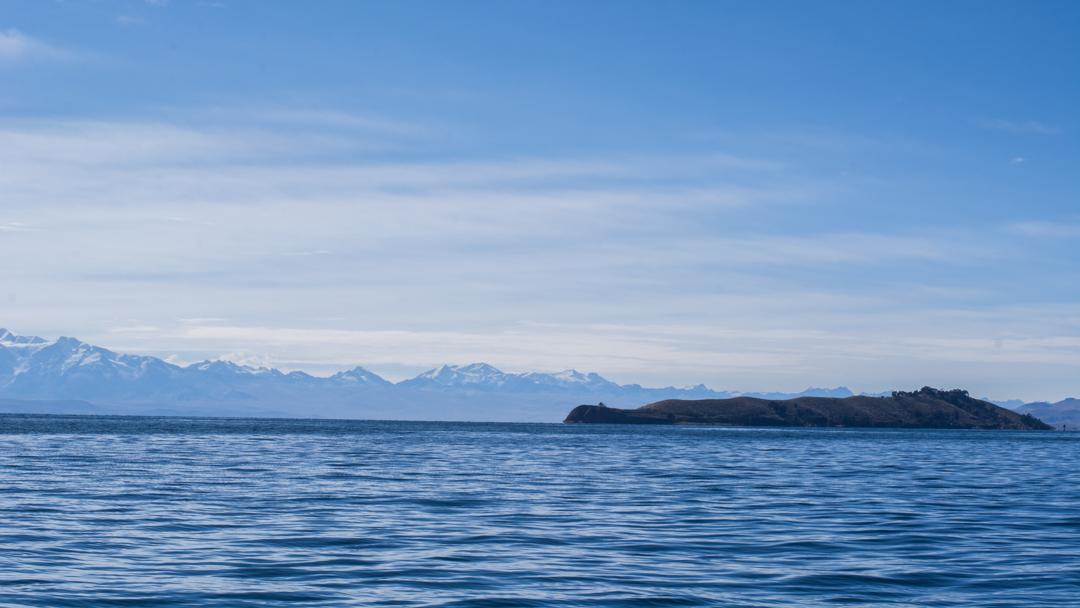 La Isla de la Luna vue depuis le bateau
