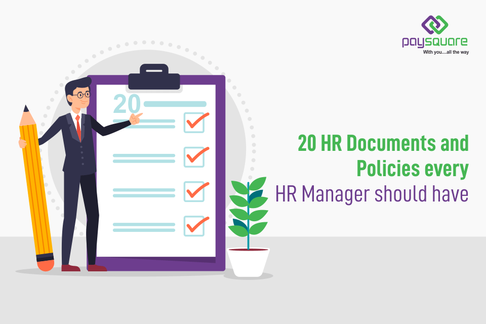 Read more about the article 20 HR Documents And Policies Every HR Manager Should Have
